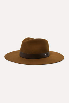 Rag & Bone Kacy Leather-trimmed Wool-felt Fedora - Tan
