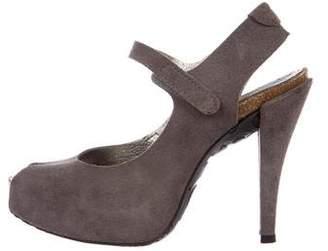 Pedro Garcia Suede Platform Sandals