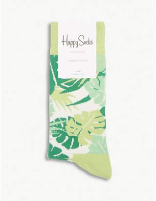 Happy Socks Jungle leaf cotton-blend socks