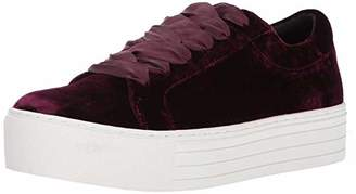 Kenneth Cole New York Women's Abbey Platform Lace Up Sneaker Velvet Fashion
