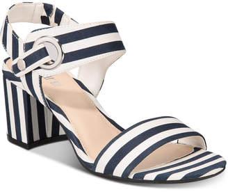 Bar III Birdie City Two-Piece Block-Heel Sandals, Women Shoes