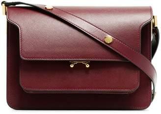 Marni Burgundy Trunk medium leather shoulder bag
