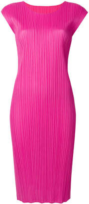 Pleats Please Issey Miyake fitted midi dress