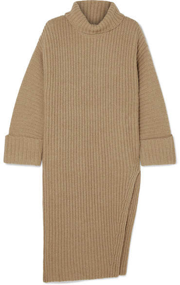 Elizabeth and James - Mae Ribbed Wool And Cashmere-blend Turtleneck Sweater - Camel