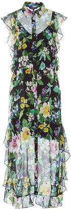 Marissa Webb Ruth Floral Midi Dress $600 thestylecure.com