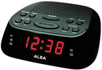 Alba Bush Clock Radio - Black / Silver