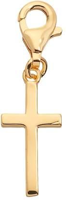 Silver Cross Tfs Jewelry TFS Jewelry 14k Gold Over Charm