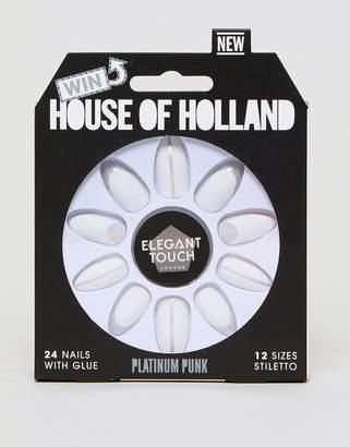 Elegant Touch House of Holland x Platinum Punk False Nails