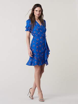 Diane von Furstenberg Short-Sleeve Ruffle Wrap Dress