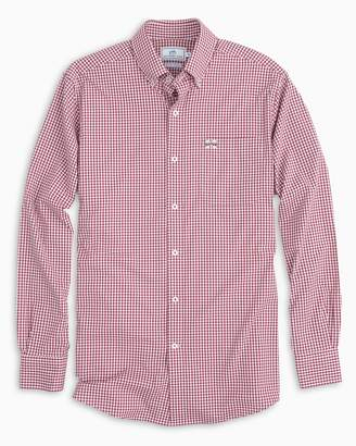 Southern Tide Gameday Gingham Intercoastal Performance Shirt - Mississippi State University