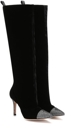Gianvito Rossi Gloria velvet knee-high boots