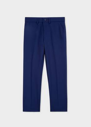 Boys' 8-10 Years Cobalt Blue 'A Suit To Smile In' Wool Trousers