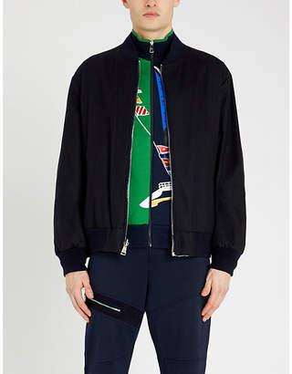 Ralph Lauren Purple Label Asymmetric-graphic cotton-blend jacket