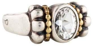 Lagos White Topaz Caviar Ring