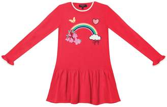 Juicy Couture Rainbow Embroidered Sweater Dress for Girls