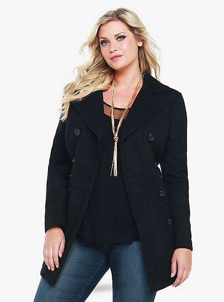 Torrid Double-Breasted Peacoat