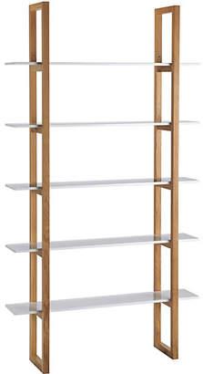 Habitat Loki 5 Shelf Solid Oak Shelving Unit - White