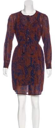 Trina Turk Silk Belted Dress