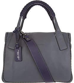 Plinio Visona PLINIO VISONA' Italian Leather ColorblockSatchel Handbag