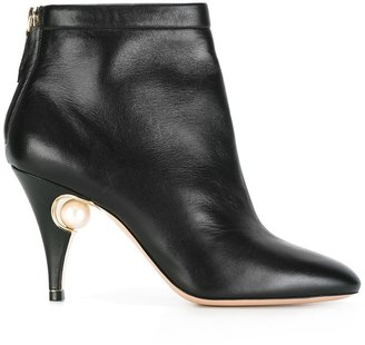 85mm 'Penelope' pearl ankle boots