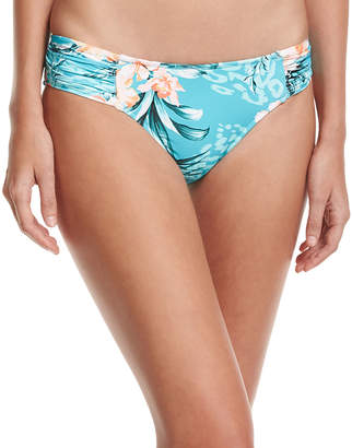 Seafolly Pacifico Ruched-Side Retro Swim Bikini Bottoms