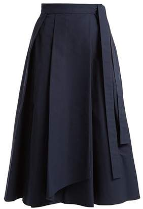 Max Mara Valda Wrap Skirt - Womens - Navy