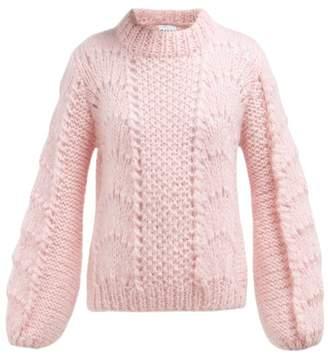 e78de23060a00 Ganni Julliard Mohair And Wool Blend Sweater - Womens - Pink