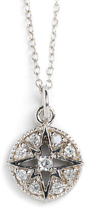 Lord & Taylor Sterling Silver and Cubic Zirconia Compass Pendant Necklace $60 thestylecure.com