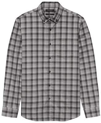 Banana Republic Grant Slim-Fit Luxe Flannel Plaid Shirt