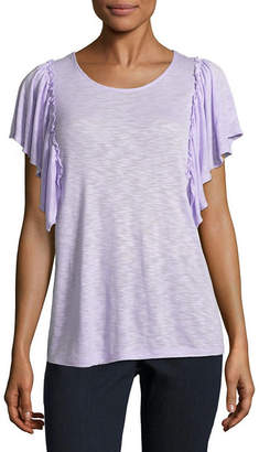 A.N.A Short Sleeve Scoop Neck T-Shirt-Womens