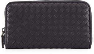 Bottega Veneta Continental Zip-Around Wallet, Navy