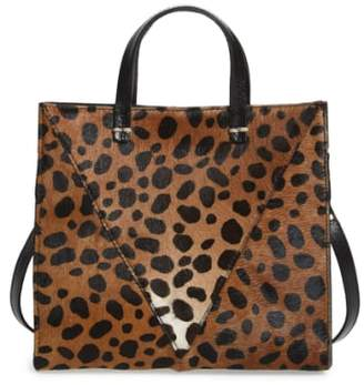 Clare Vivier 'Petit Simple' Leopard Print Genuine Calf Hair Tote