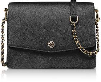 Tory Burch Black Saffiano Leather Robinson Convertible Shoulder Bag