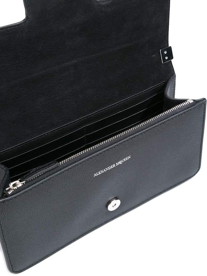 Alexander McQueen 'Insignia' clutch satchel