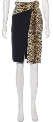 Ungaro Animal Print Knee-Length Skirt w/ Tags