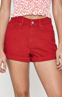Pacsun Sugar Red Mom Shorts
