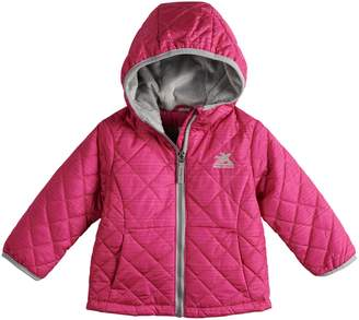 ZeroXposur Toddler Girl Midweight Hooded Quilted Jacket