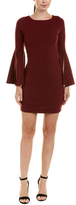 Susana Monaco Bell-Sleeve Sheath Dress