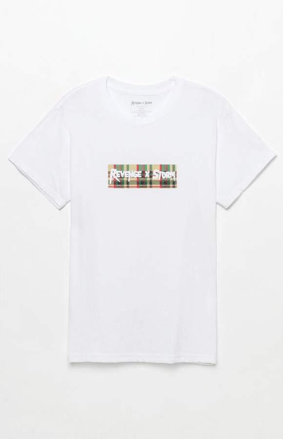 Revenge Storm Plaid Logo T-Shirt