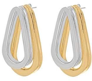 Annelise Michelson Women's Gold Plated Brass Double Ellipse Earrings