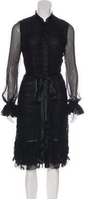 Oscar de la Renta Sheer Midi Dress