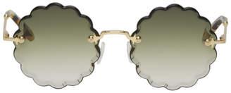 Chloé Khaki Rosie Petite Sunglasses