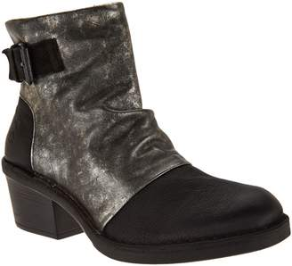 Fly London Leather Block Heel Boots - Dape