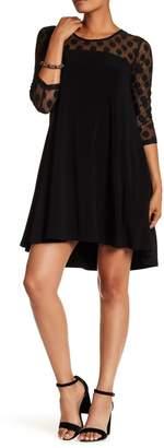 Nina Leonard 3/4 Length Sleeve Dot Dress