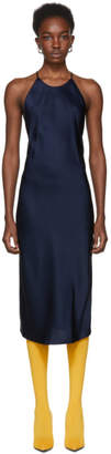 Protagonist Navy Cross Back Slip Dress