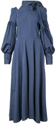 Jill Stuart cold shoulder stripe dress