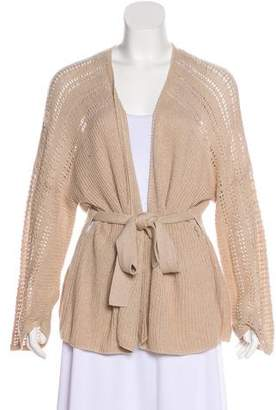 Mes Demoiselles Mock Wrap Knit Cardigan