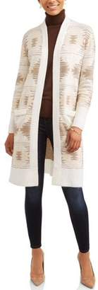 Time and Tru Women's Plush Duster Cardigan