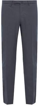 Incotex Slim Fit Cotton Blend Twill Trousers - Mens - Blue
