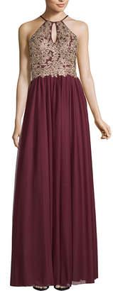 My Michelle Sleeveless Applique Ball Gown-Juniors